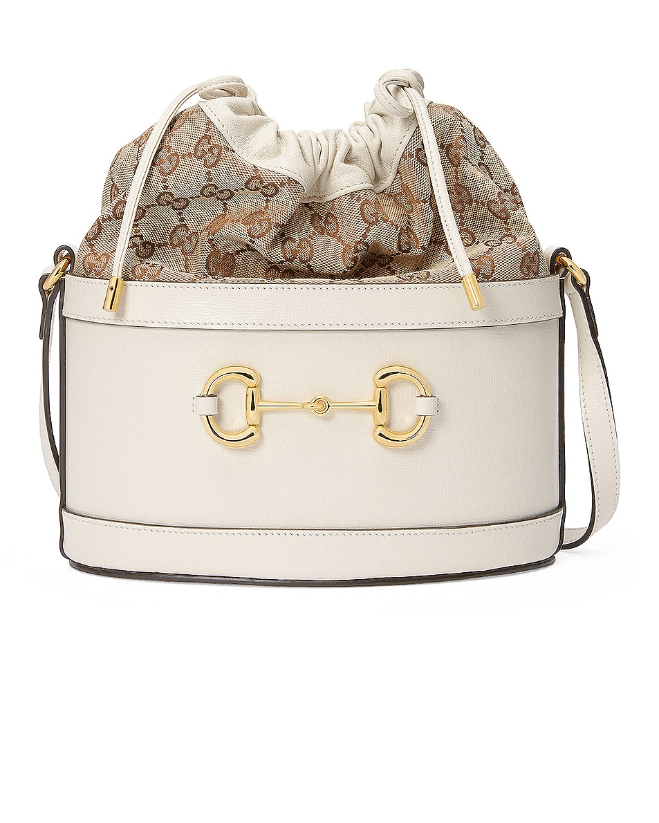 Image 1 of Gucci Horsebit 1955 Pouch Bag in Mystic White & Beige Ebony