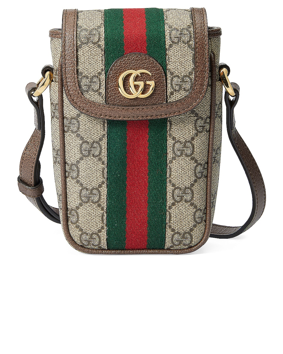 Image 1 of Gucci Mini Floral Chain Bag in Beige Ebony