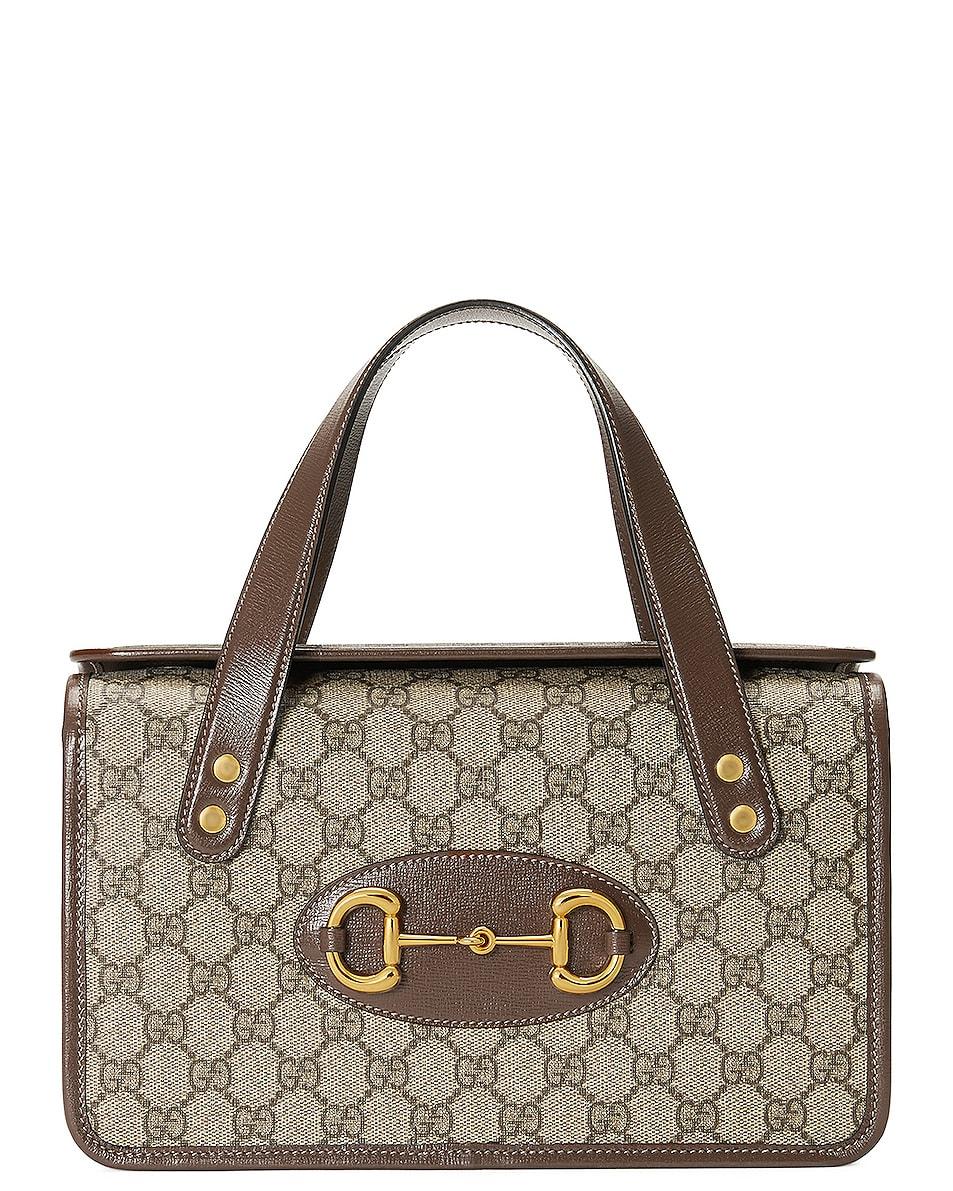 Image 1 of Gucci Horsebit 1955 Shoulder Bag in Beige Ebony & Brown Sugar