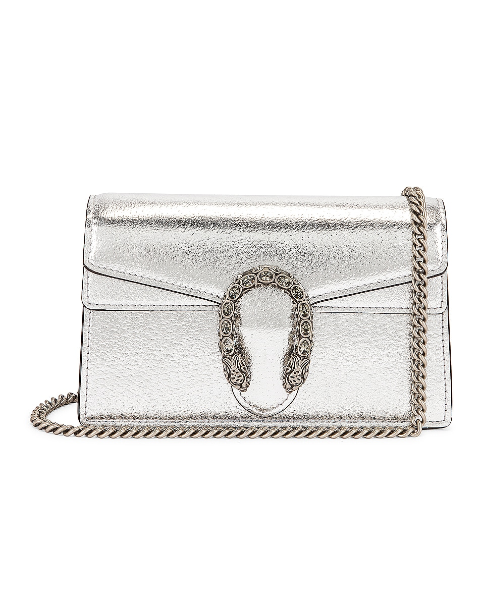 Image 1 of Gucci Supermini Bag in Silver & Black Diamond