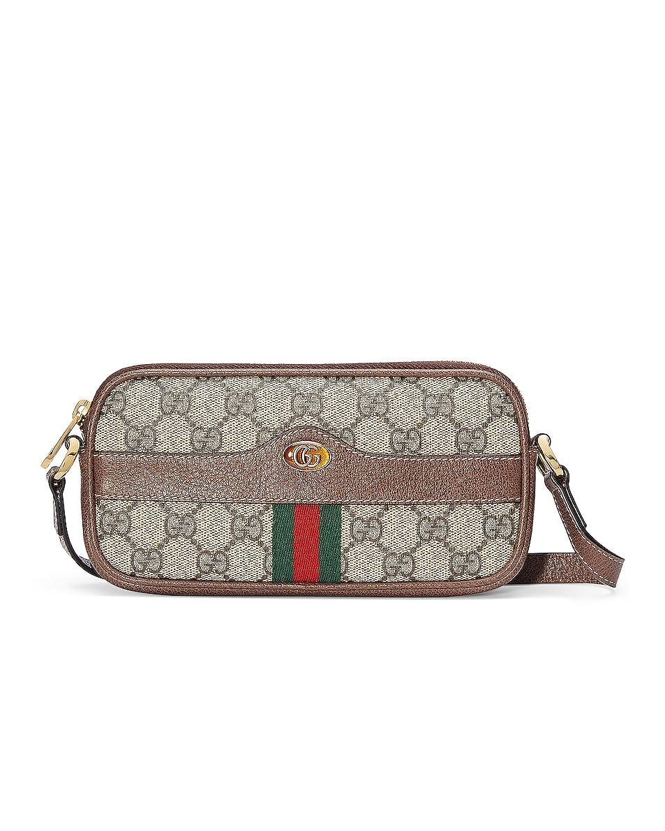 Image 1 of Gucci Canvas Chain Camera Bag in Beige Ebony