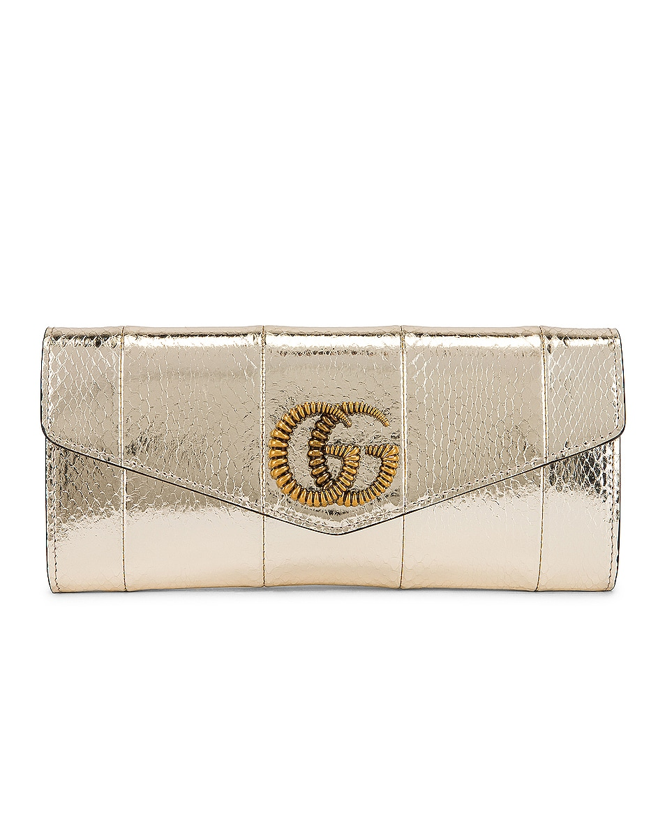 Image 1 of Gucci Broadway Evening Clutch in Platino