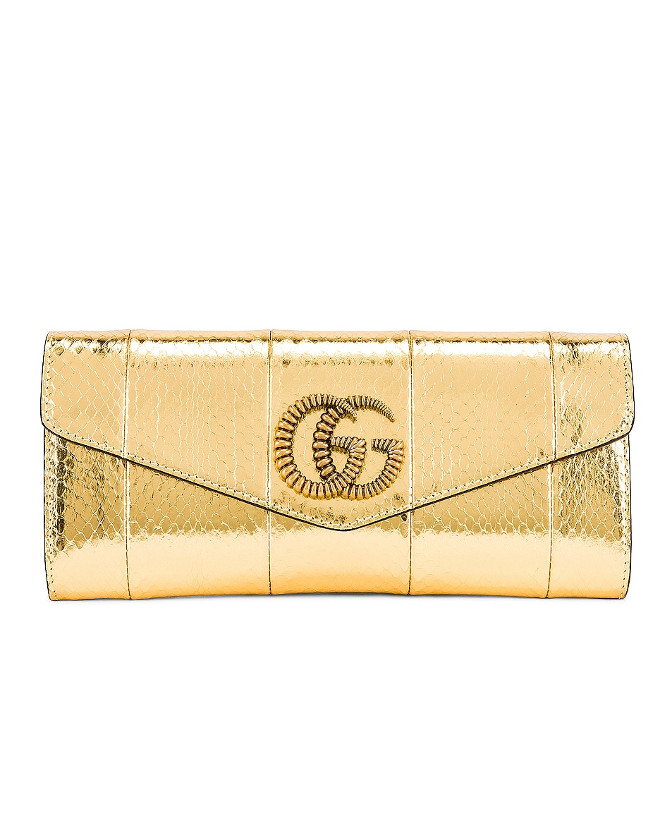 Image 1 of Gucci Broadway Evening Clutch in Gold
