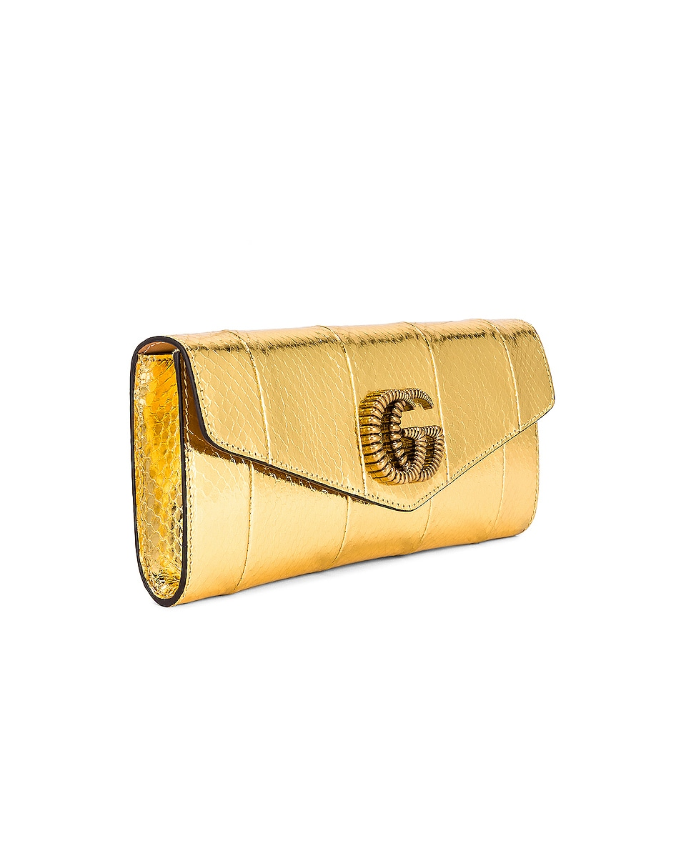Image 4 of Gucci Broadway Evening Clutch in Gold