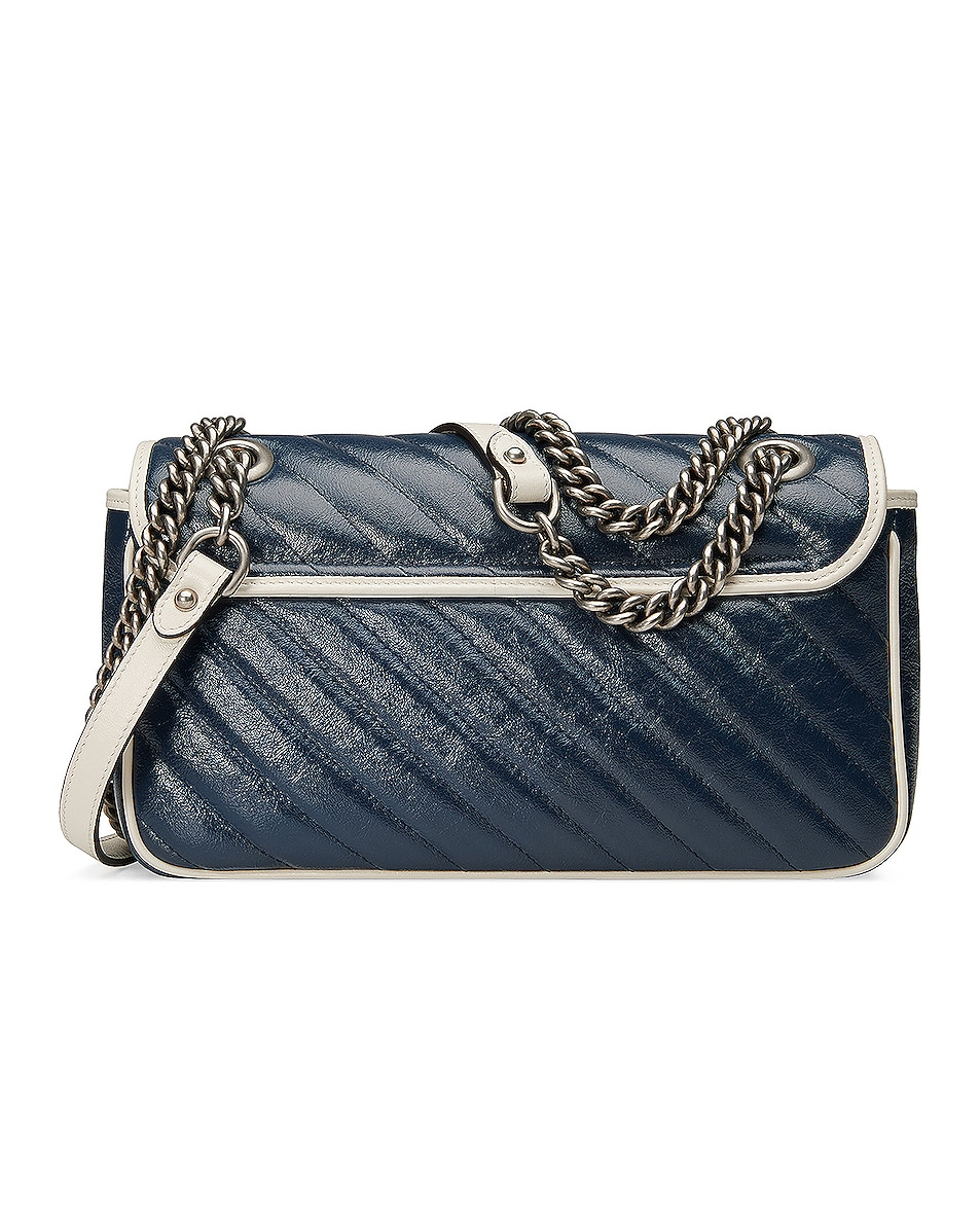 Image 3 of Gucci GG Marmont 2.0 Shoulder Bag in Blue & Mystic White