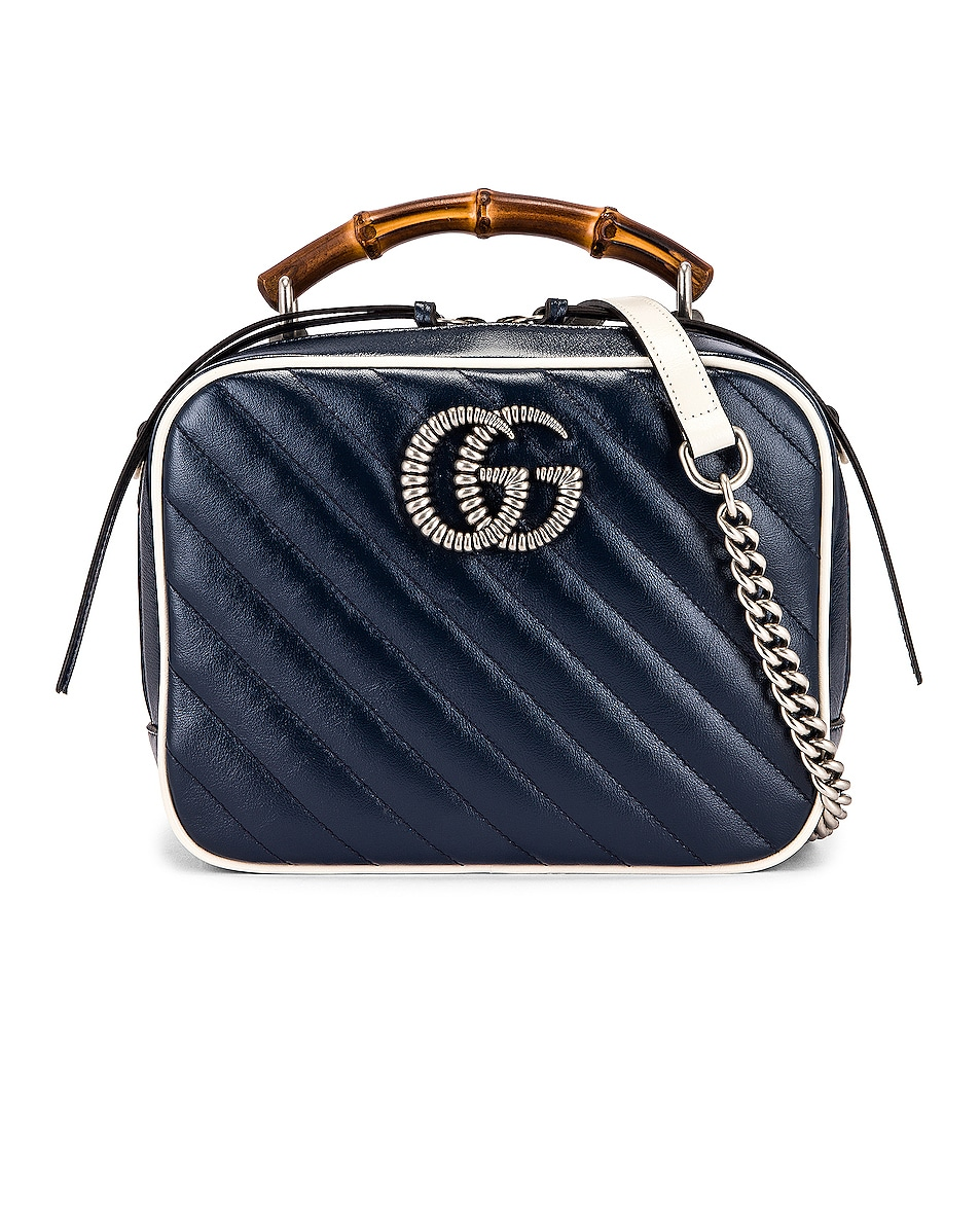 Image 1 of Gucci GG Marmont 2.0 Shoulder Bag in Blue & Mystic White