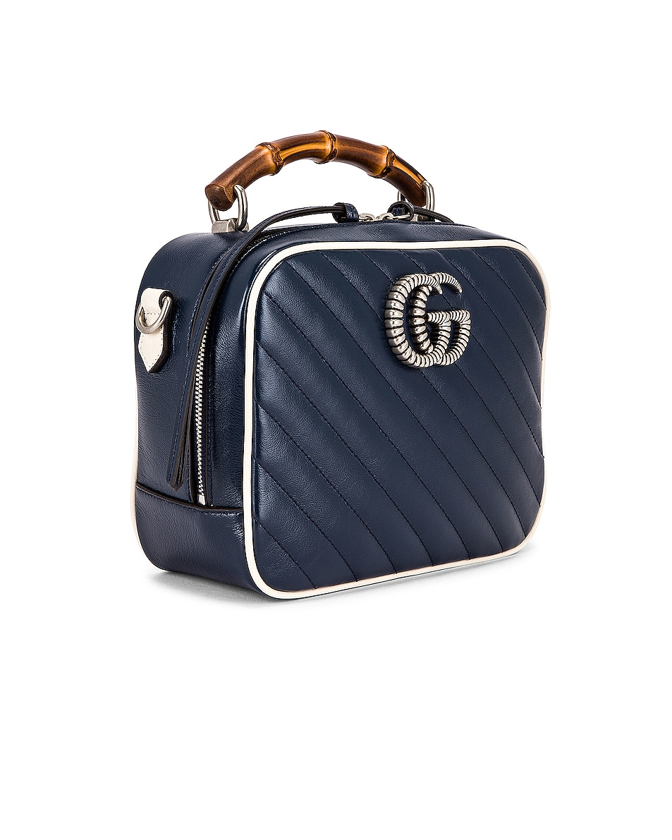 Image 4 of Gucci GG Marmont 2.0 Shoulder Bag in Blue & Mystic White