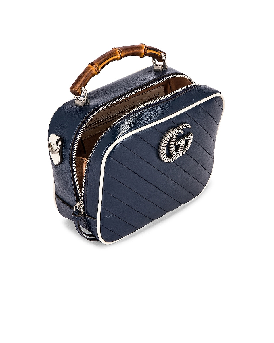 Image 5 of Gucci GG Marmont 2.0 Shoulder Bag in Blue & Mystic White