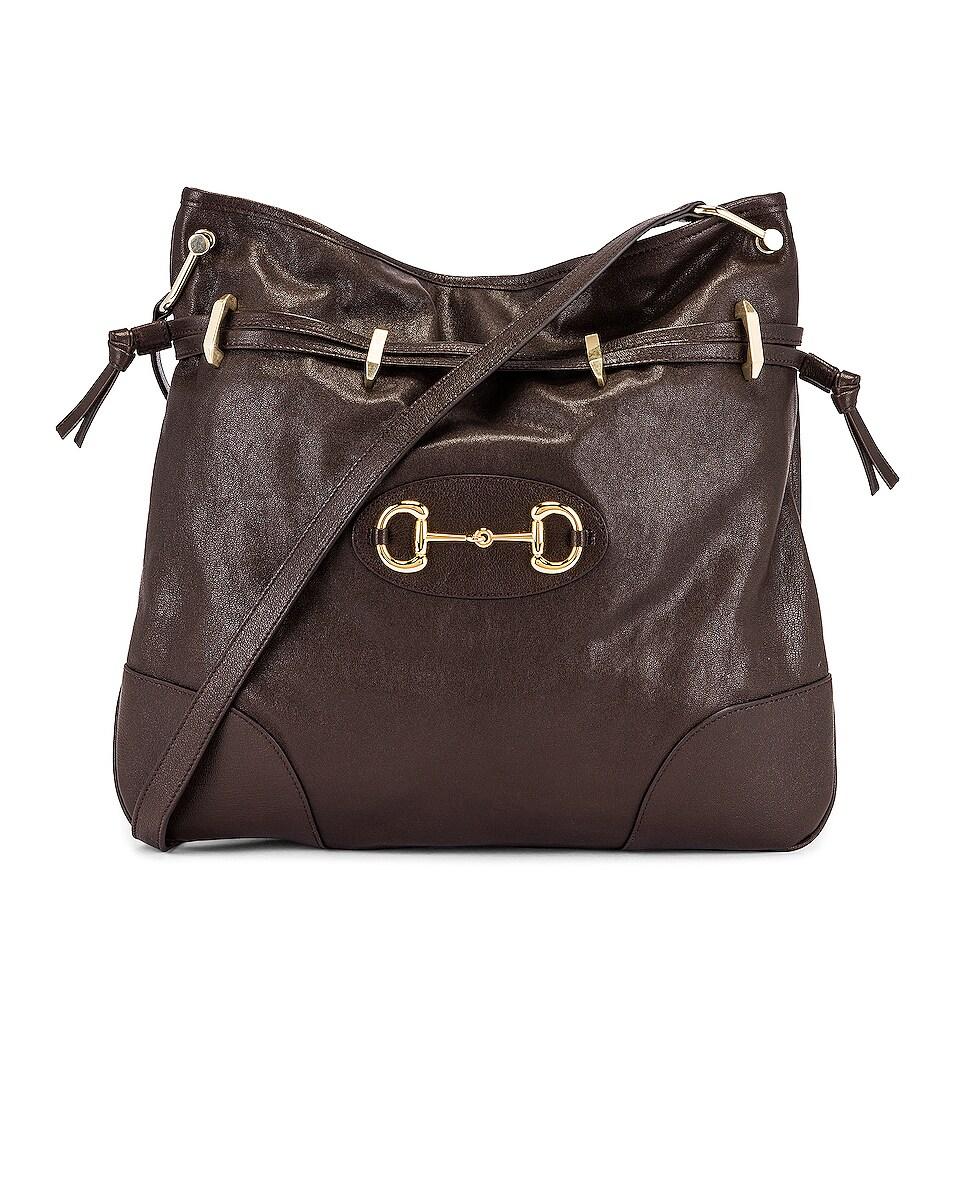 Image 1 of Gucci 1955 Horsebit Shoulder Bag in Cocoa