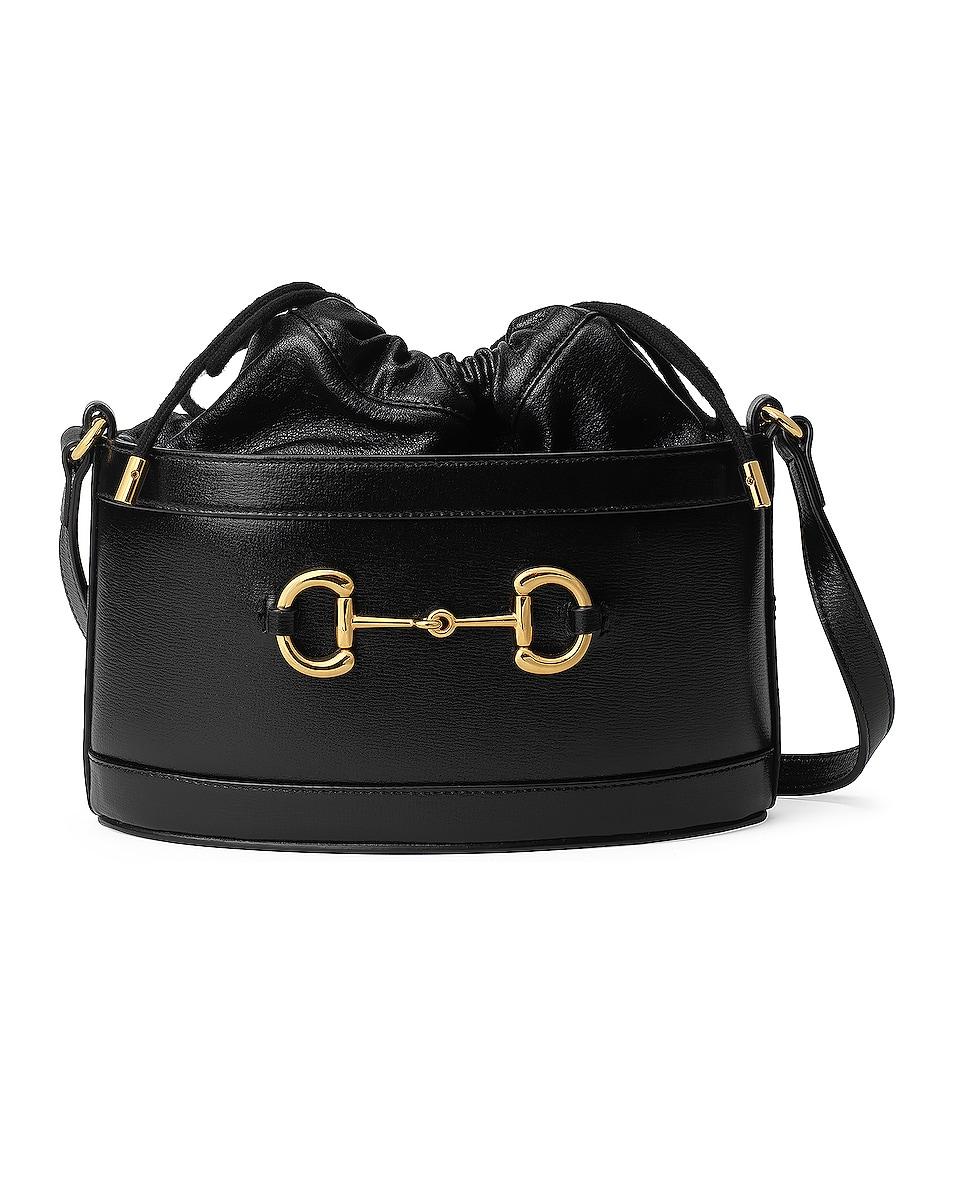 Image 1 of Gucci Morsetto Bucket Bag in Black