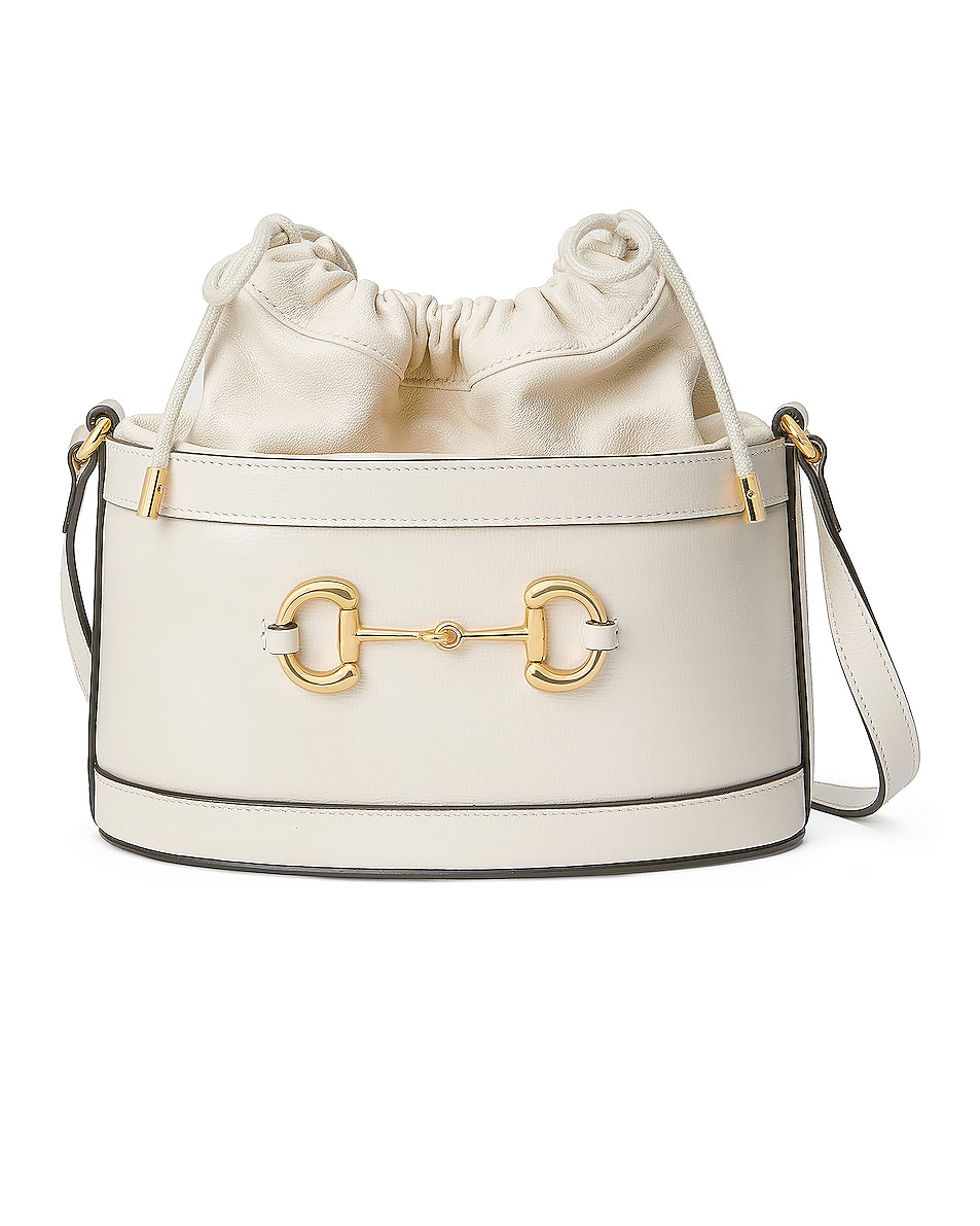 Image 1 of Gucci 1955 Horsebit Bucket Bag in Mystic White