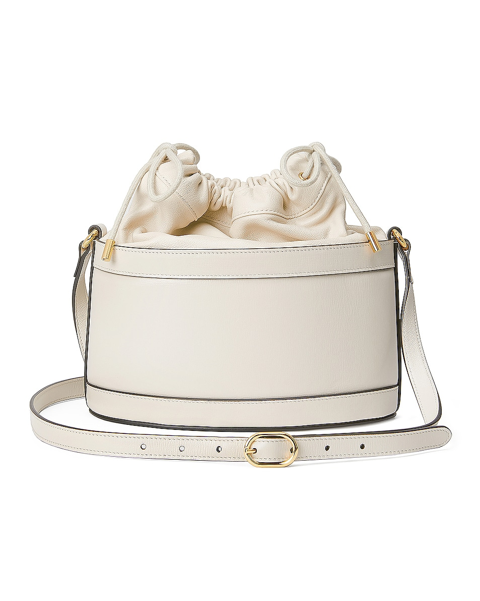 Image 3 of Gucci 1955 Horsebit Bucket Bag in Mystic White