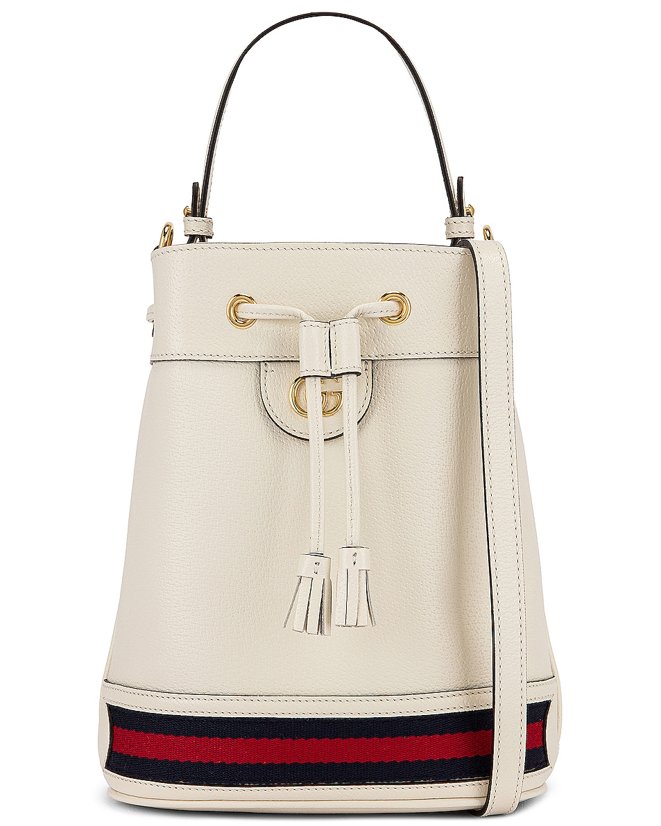 Image 1 of Gucci Ophidia Bucket Bag in Mystic White