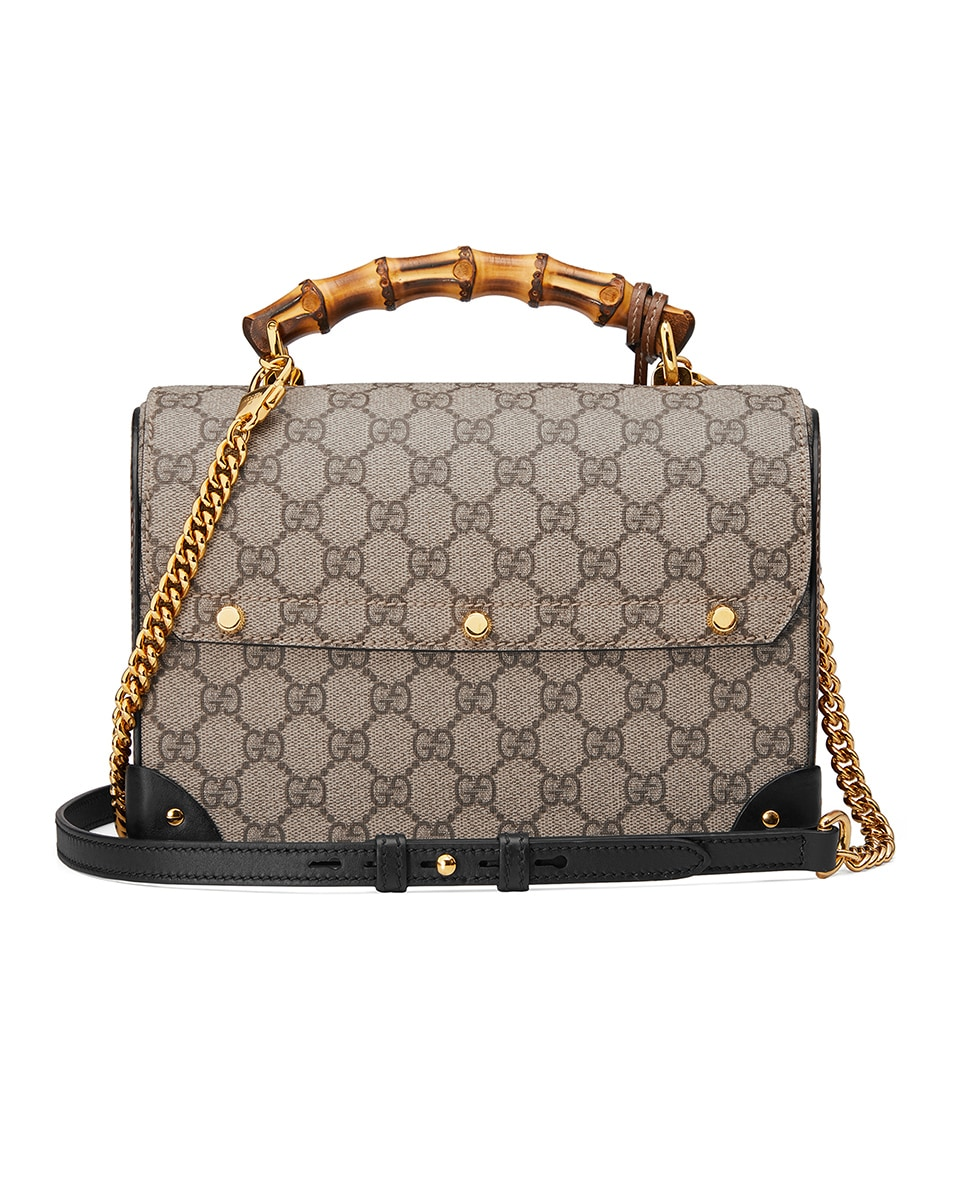 Image 2 of Gucci Padlock GG Shoulder Bag in Beige Ebony & Black