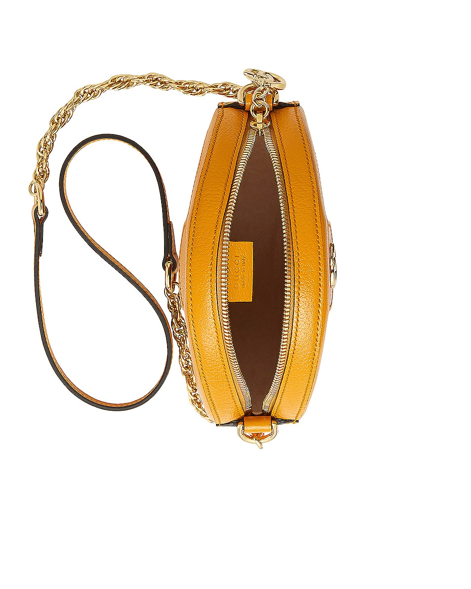 Image 5 of Gucci Ophidia Supreme GG Flora Round Shoulder Bag in Beige Ebony & Yellow
