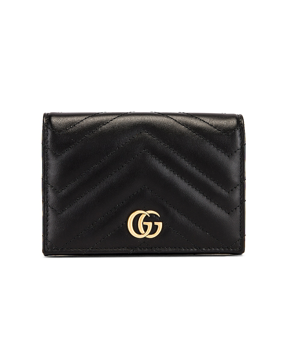 Image 1 of Gucci Leather Passport Case in Black