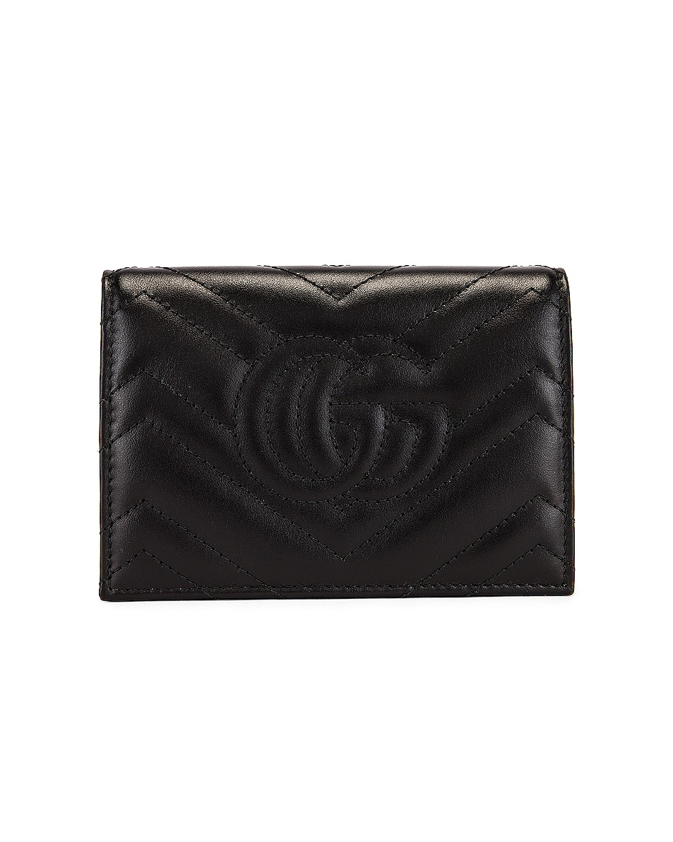 Image 2 of Gucci Leather Passport Case in Black