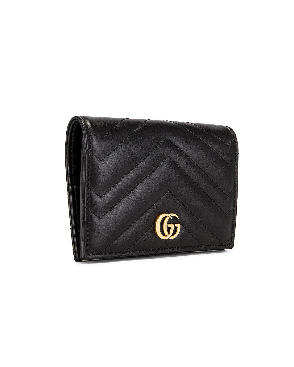 Image 3 of Gucci Leather Passport Case in Black