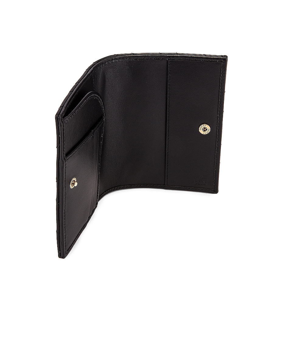 Image 4 of Gucci Leather Passport Case in Black