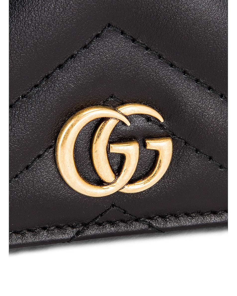 Image 6 of Gucci Leather Passport Case in Black
