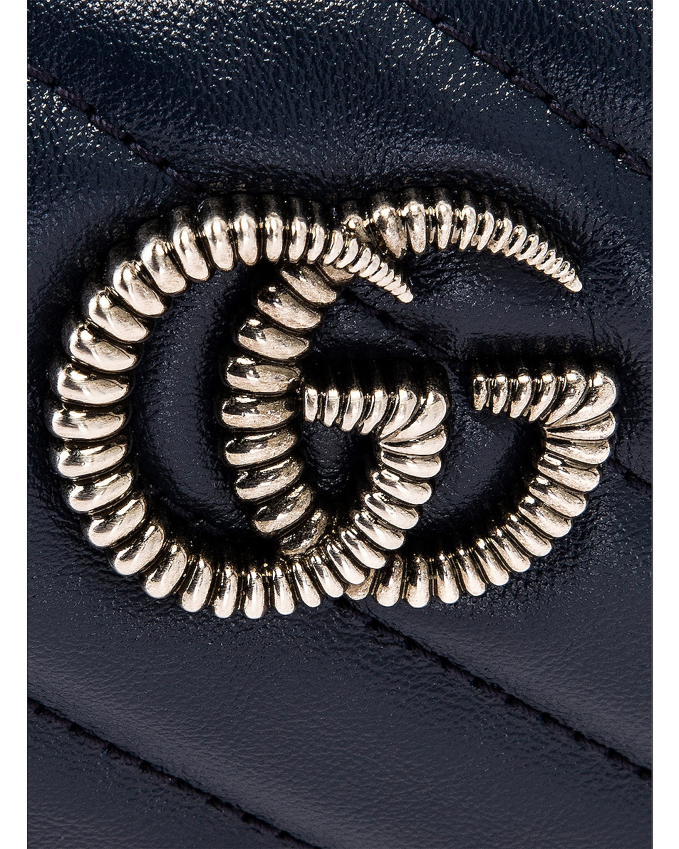 Image 8 of Gucci Leather Torchon Chain Shoulder Bag in Blue Agata & Mystic White