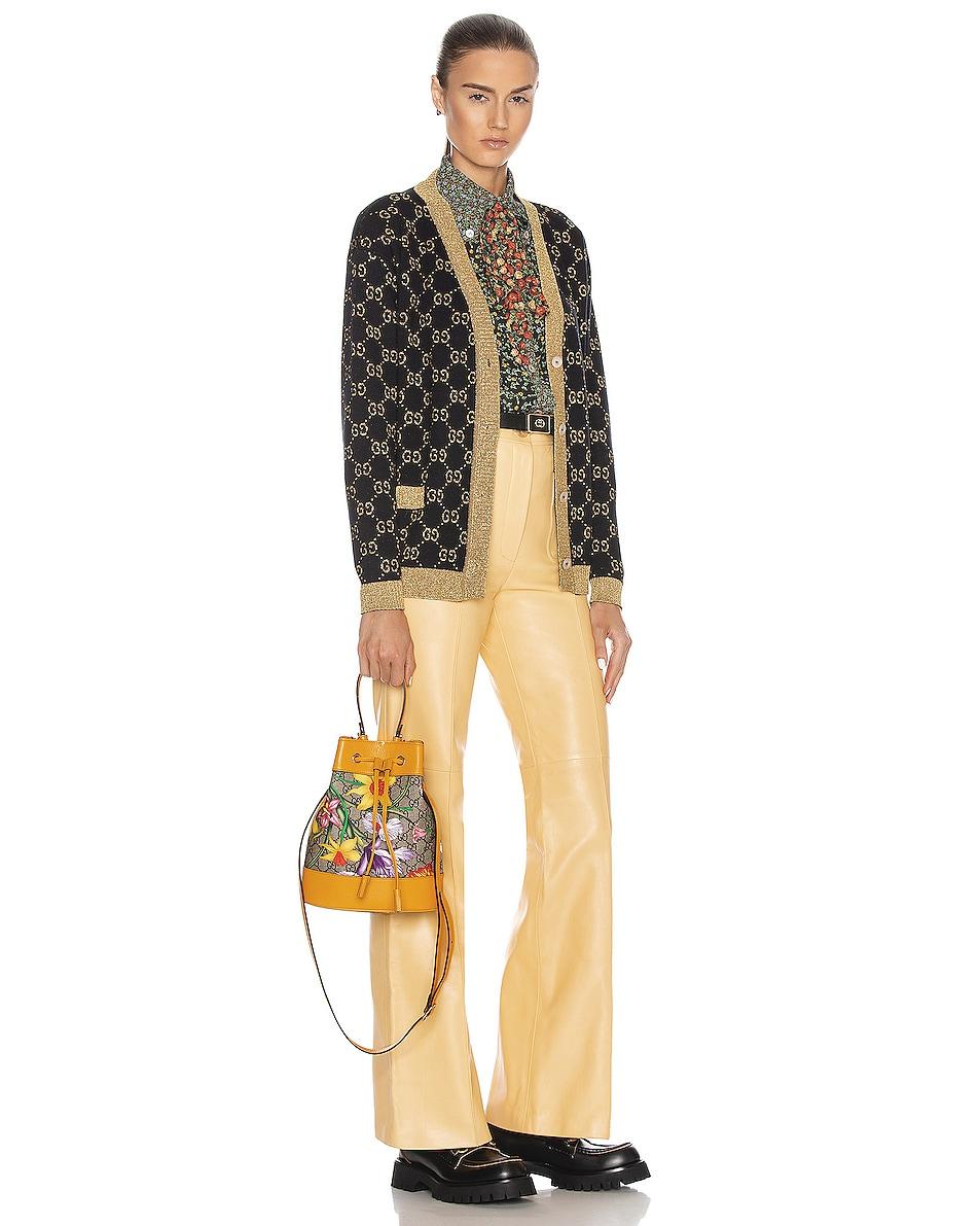 Image 2 of Gucci Ophidia Supreme GG Flora Shoulder Bag in Beige Ebony & Multicolor