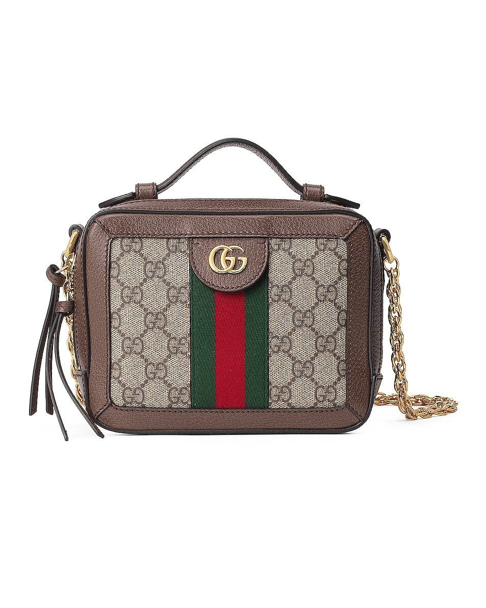 Image 1 of Gucci Ophidia GG Chain Shoulder Bag in Beige Ebony