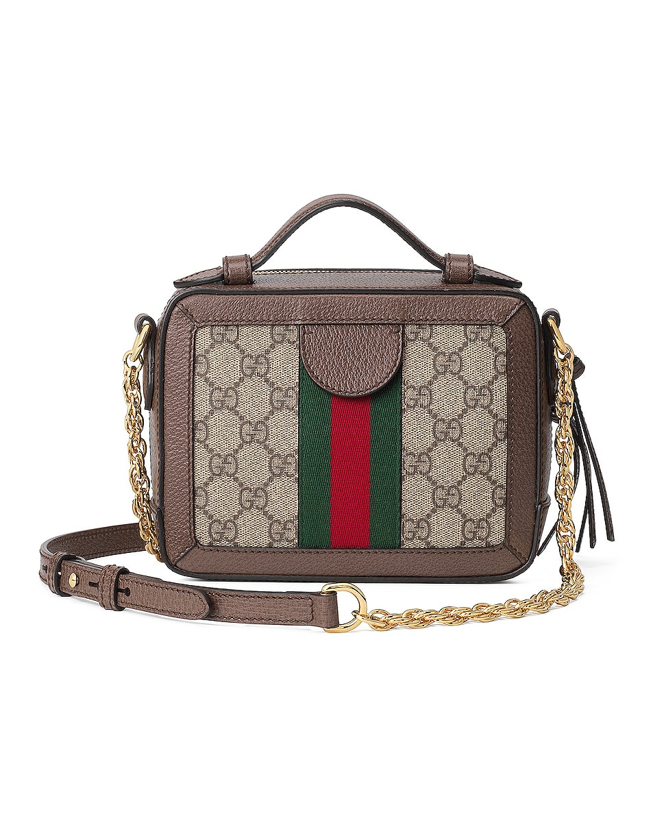 Image 3 of Gucci Ophidia GG Chain Shoulder Bag in Beige Ebony