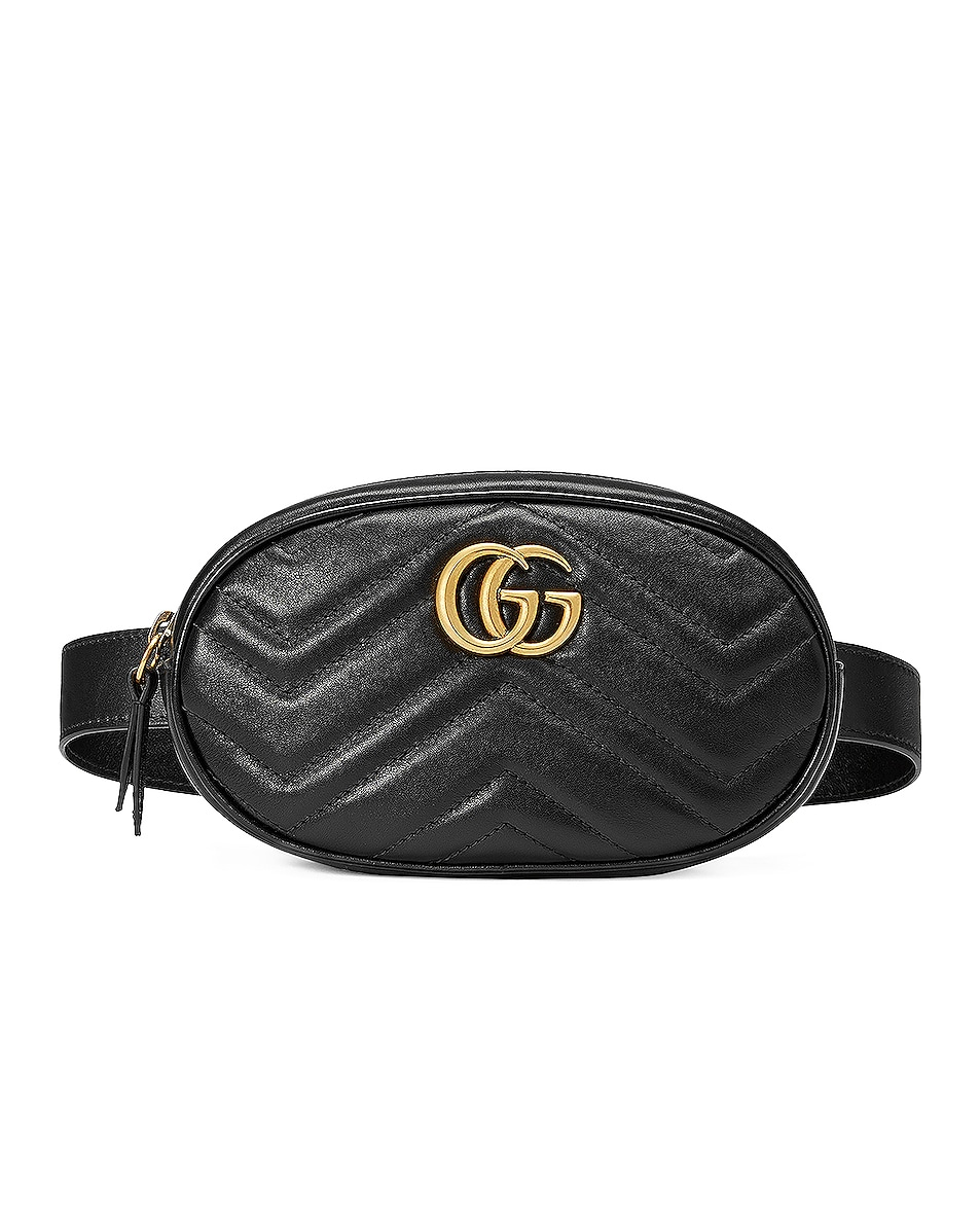 Image 1 of Gucci GG Marmont 2.0 Belt Bag in Black