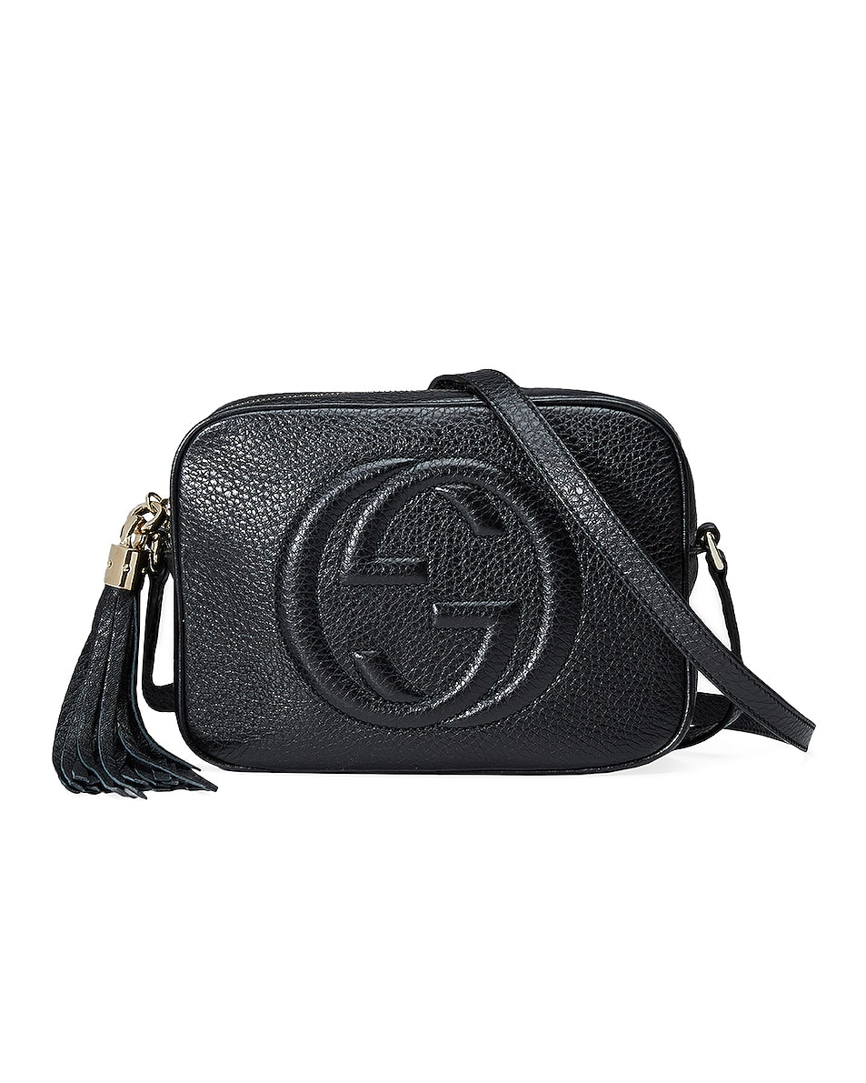 Image 1 of Gucci Small Leather Disco Bag in Black