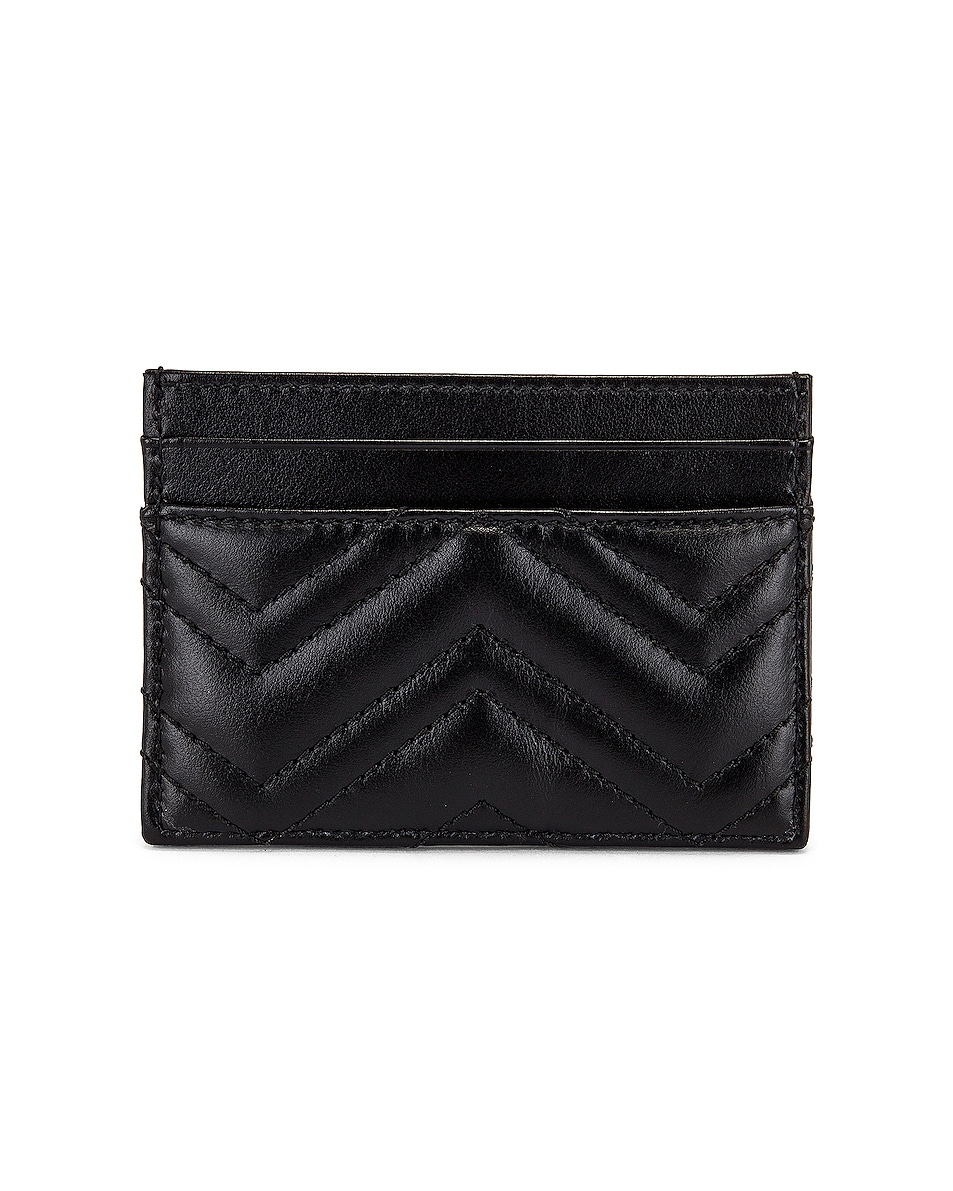 Image 2 of Gucci GG Marmont 2.0 Card Case in Black