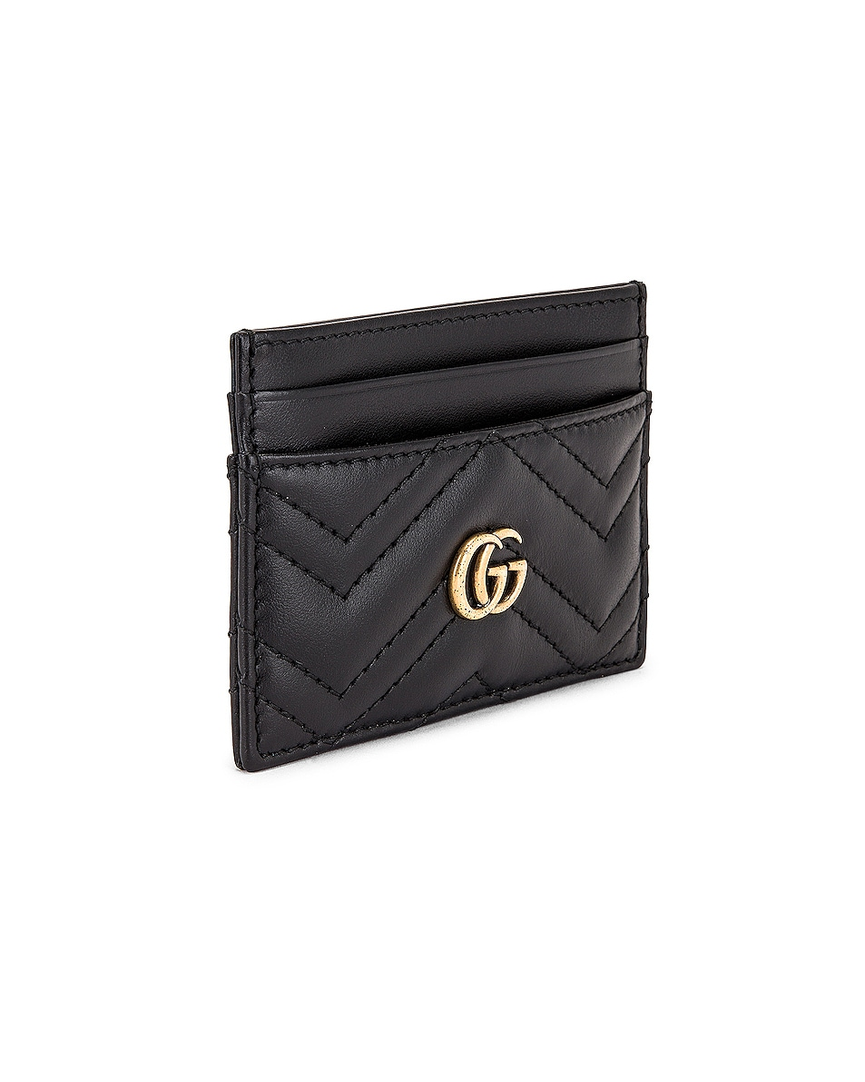 Image 3 of Gucci GG Marmont 2.0 Card Case in Black