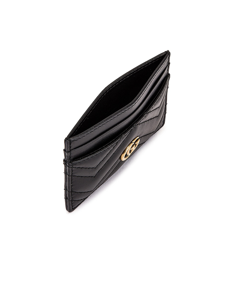 Image 4 of Gucci GG Marmont 2.0 Card Case in Black