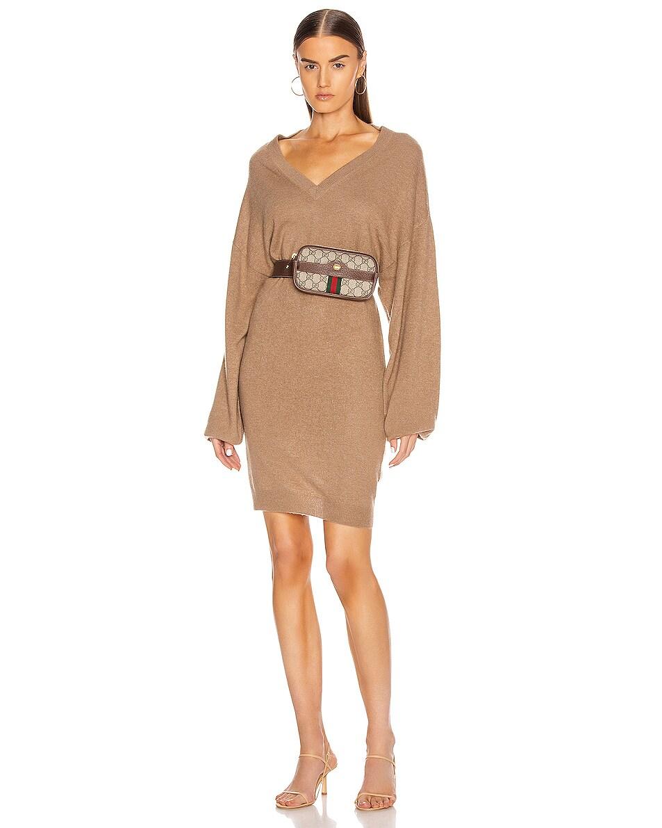 Image 2 of Gucci Canvas Belt Bag in Beige Ebony