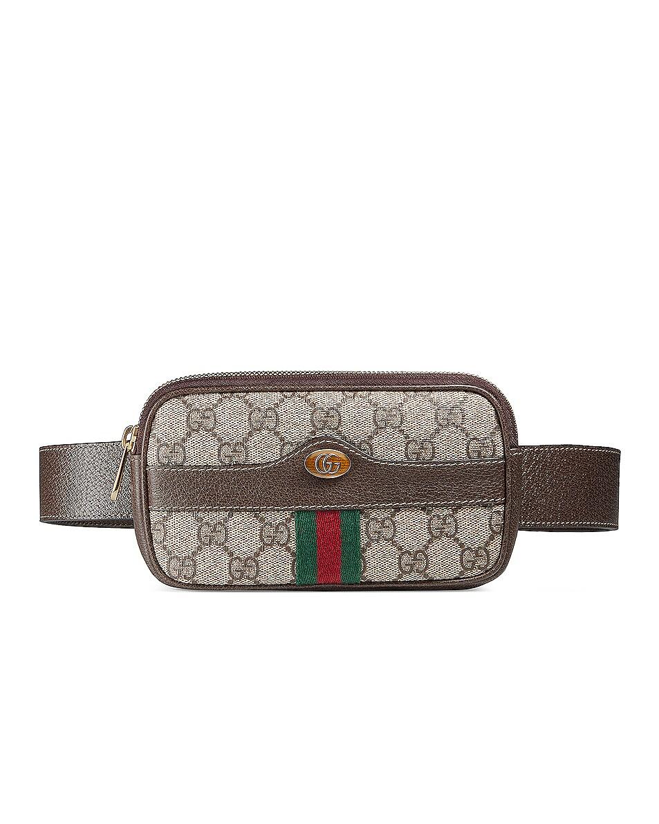 Image 3 of Gucci Canvas Belt Bag in Beige Ebony