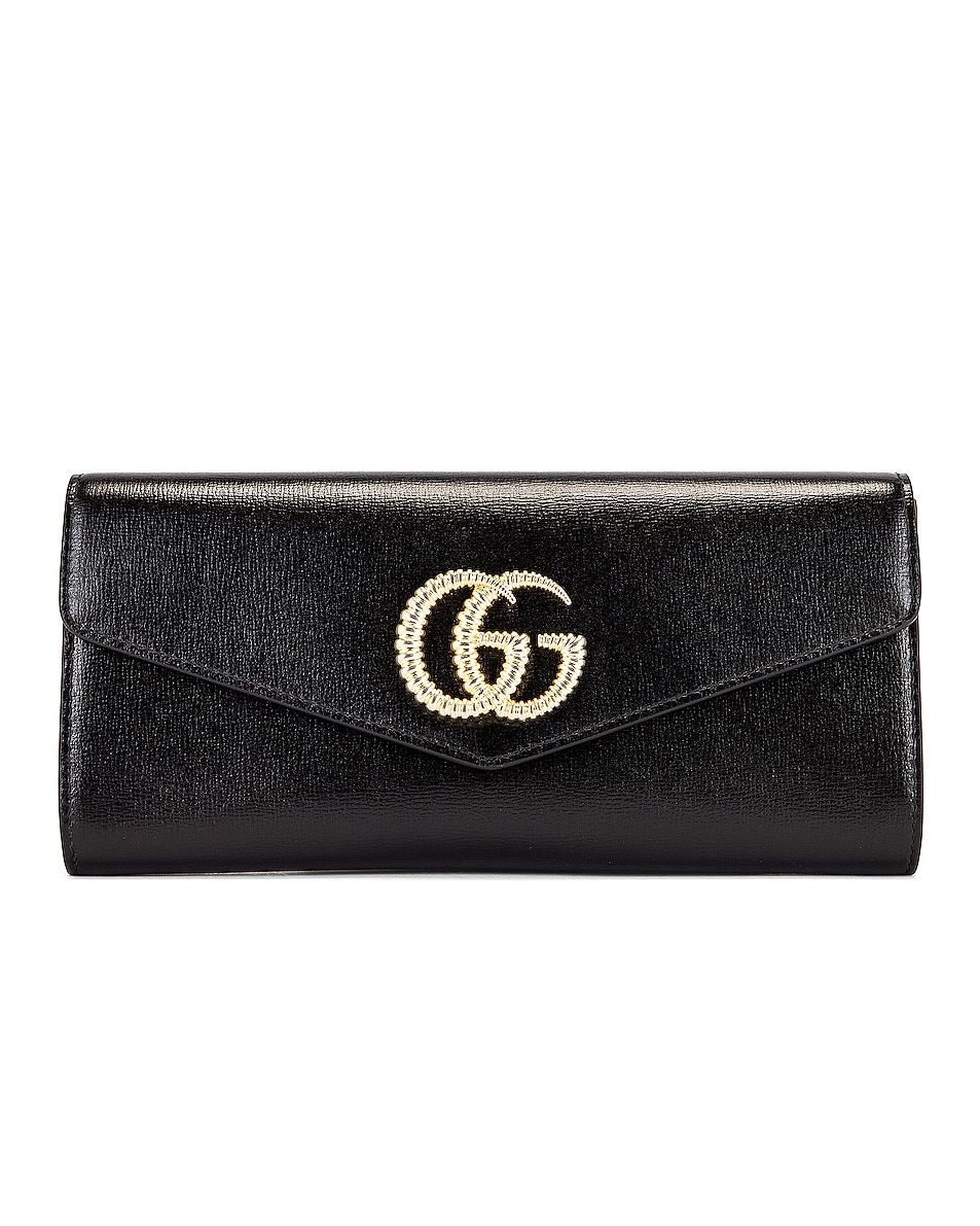 Image 1 of Gucci Broadway Evening Clutch in Black