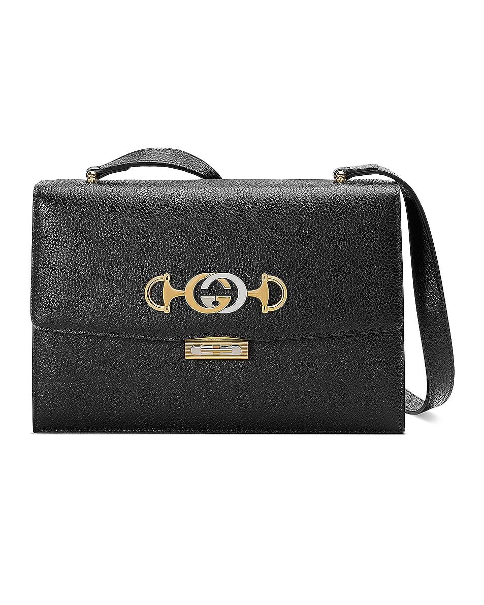 Image 1 of Gucci Zumi Box Shoulder Bag in Black
