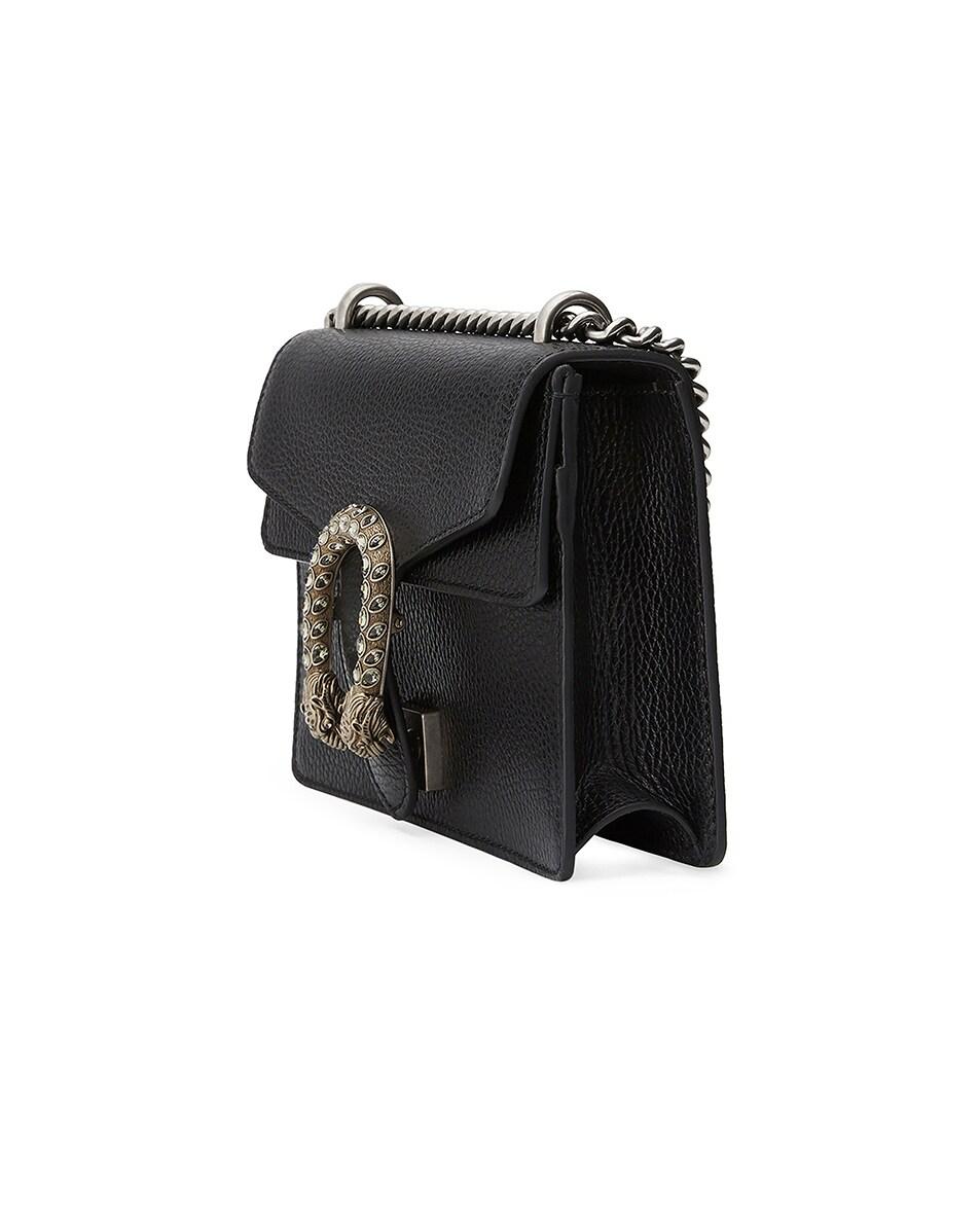 Image 3 of Gucci Dionysus Shoulder Mini Bag in Black & Black Diamond