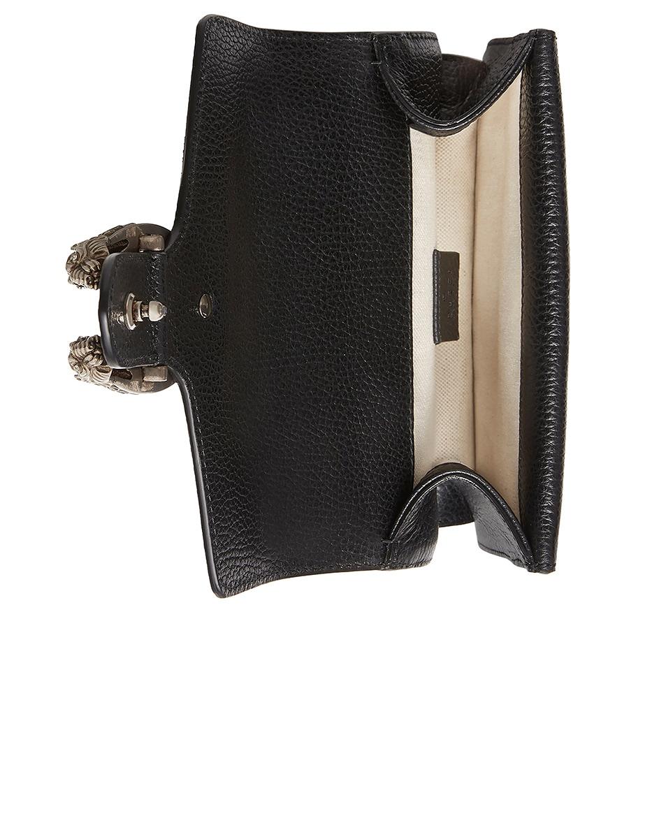 Image 4 of Gucci Dionysus Shoulder Mini Bag in Black & Black Diamond