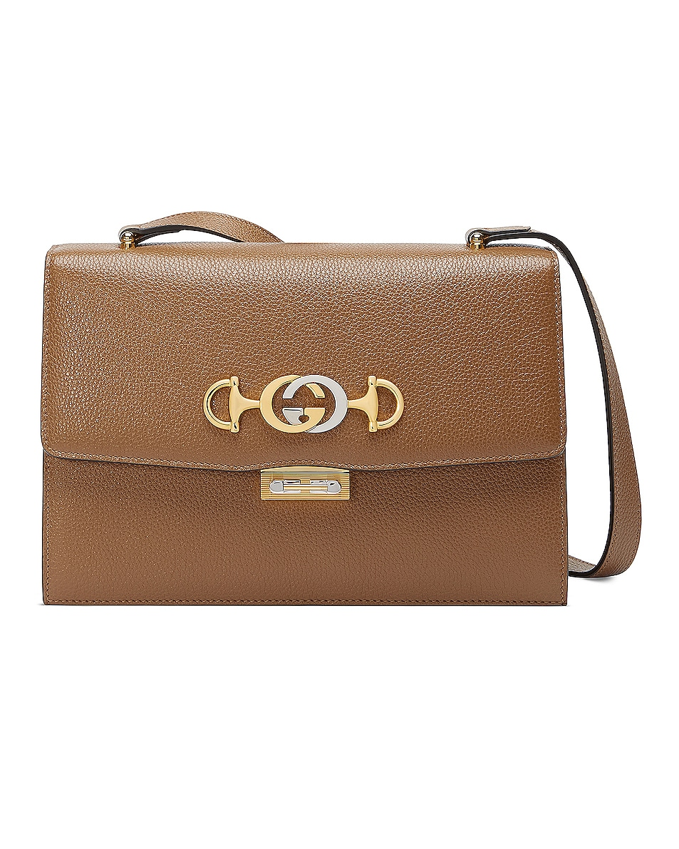 Image 1 of Gucci Zumi Box Shoulder Bag in Taupe