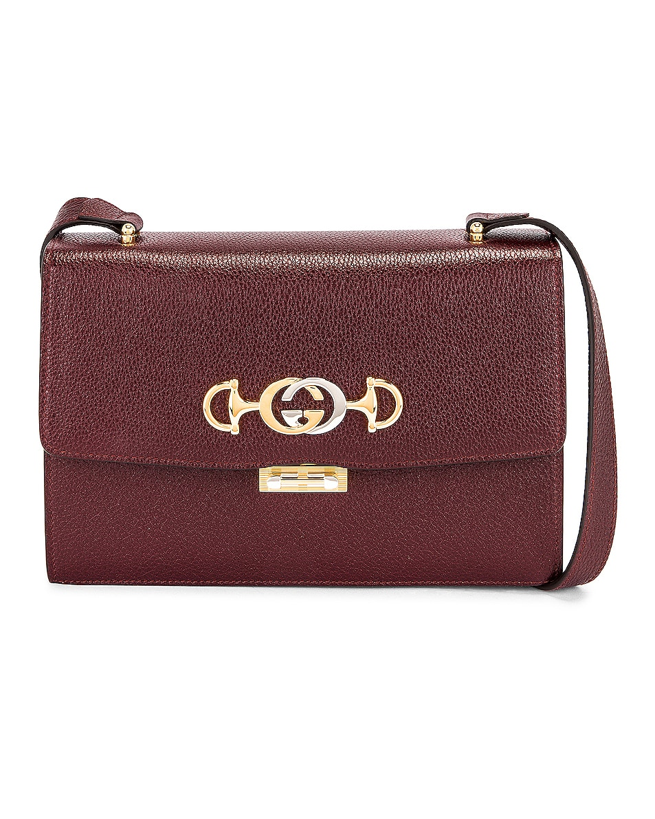 Image 1 of Gucci Zumi Box Shoulder Bag in Vintage Bordeaux