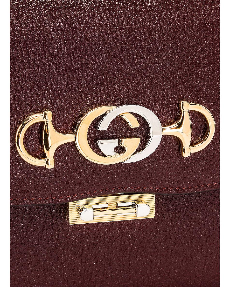 Image 8 of Gucci Zumi Box Shoulder Bag in Vintage Bordeaux