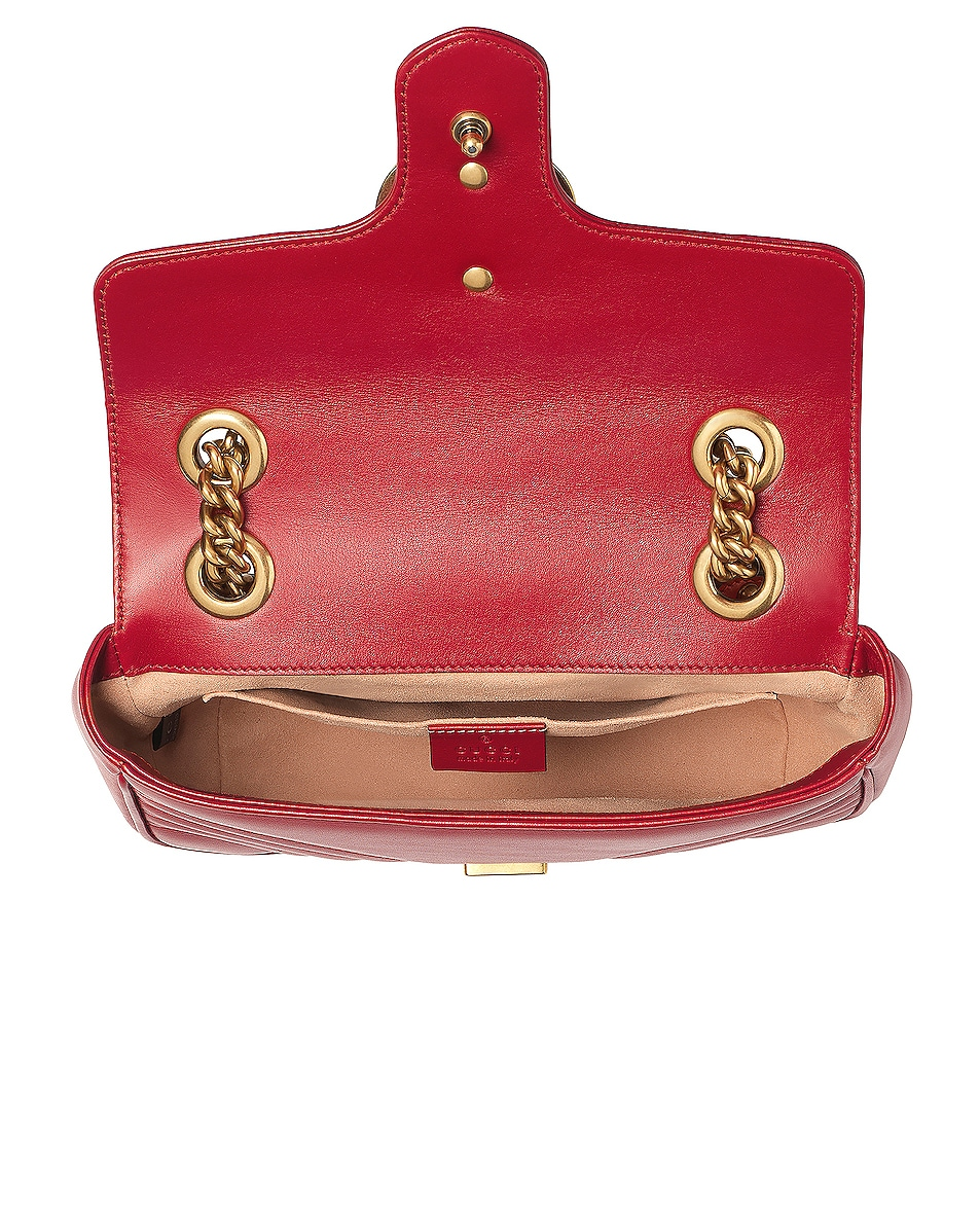 Image 5 of Gucci GG Marmont 2.0 Shoulder Bag in Hibiscus Red