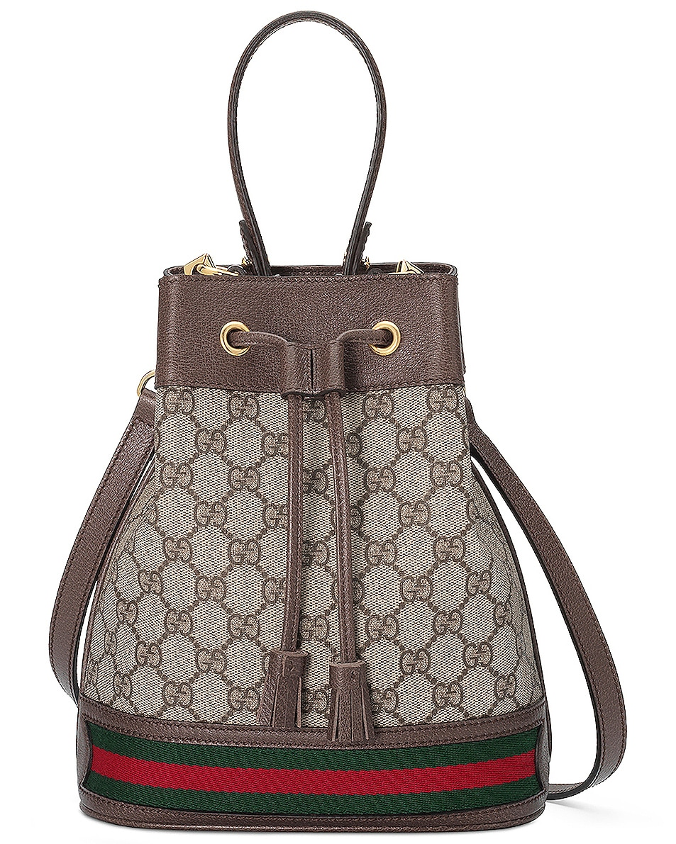 Image 1 of Gucci Ophidia GG Bucket Bag in Beige Ebony