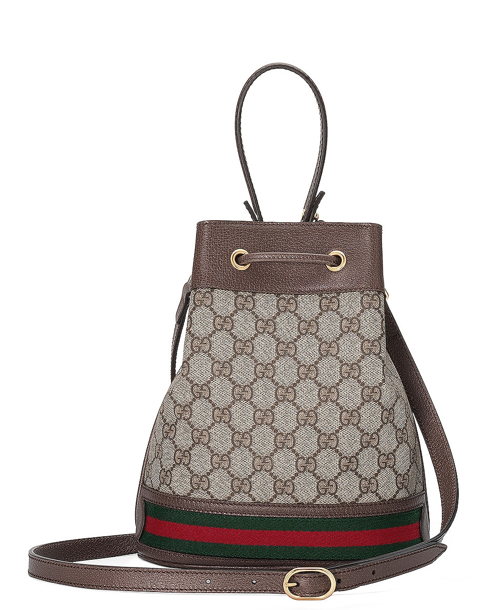 Image 3 of Gucci Ophidia GG Bucket Bag in Beige Ebony