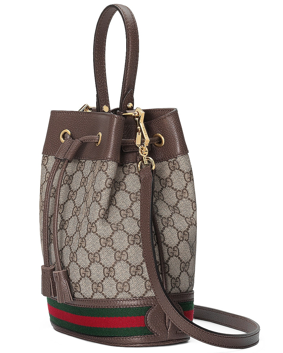Image 4 of Gucci Ophidia GG Bucket Bag in Beige Ebony