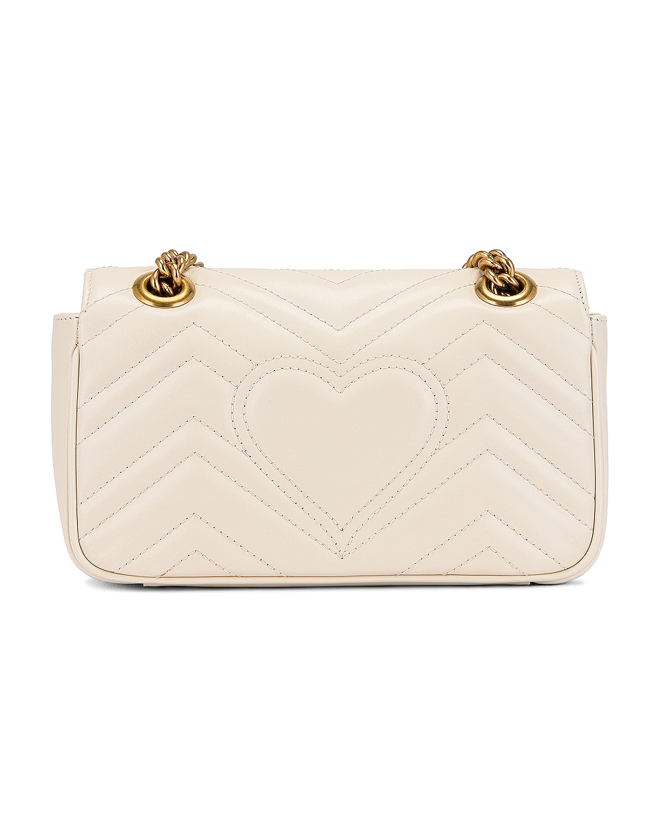 Image 3 of Gucci GG Marmont 2.0 Shoulder Bag in Mystic White
