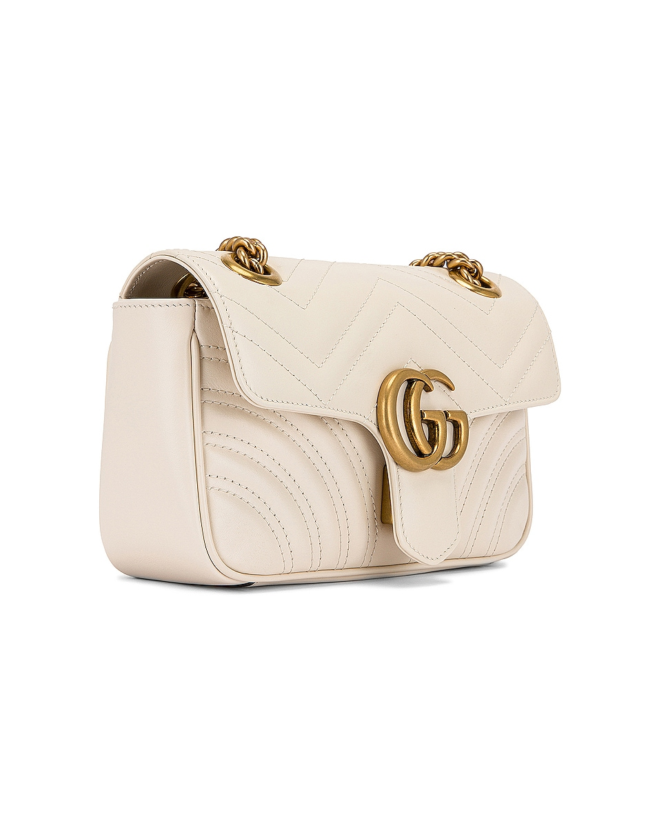 Image 4 of Gucci GG Marmont 2.0 Shoulder Bag in Mystic White