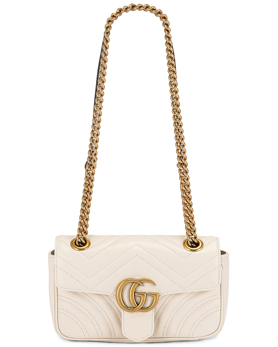 Image 6 of Gucci GG Marmont 2.0 Shoulder Bag in Mystic White