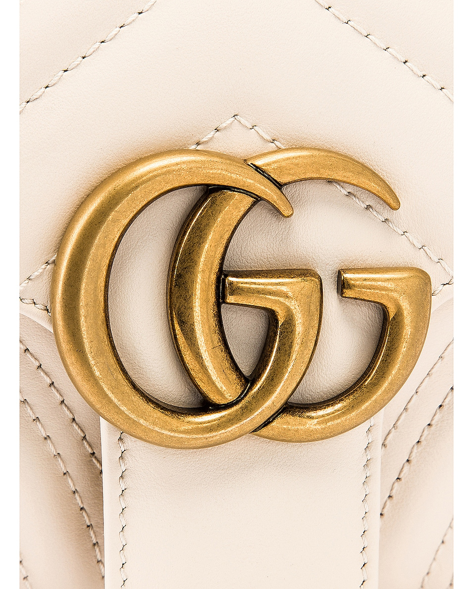 Image 8 of Gucci GG Marmont 2.0 Shoulder Bag in Mystic White